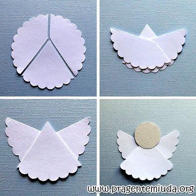Passo a passo de anjinho feito com papel