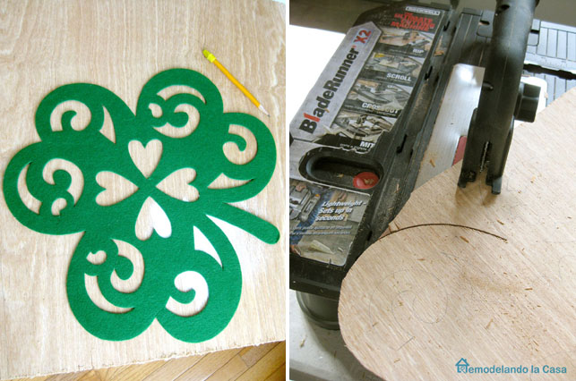 Rockwell BladeRunnerX2 to cut shamrock figure for St. Patrick's day