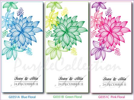 Pink Floral Wedding Invitation Card, wedding invitation card, malay wedding card, pink floral card, white perfume card, floral card, floral wedding card, wedding card, handmade card