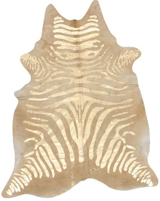 Nuloom Hand Picked Brazilian Black White Zebra Cowhide: Tiffany Leigh Interior Design: Metallic Hide Rugs