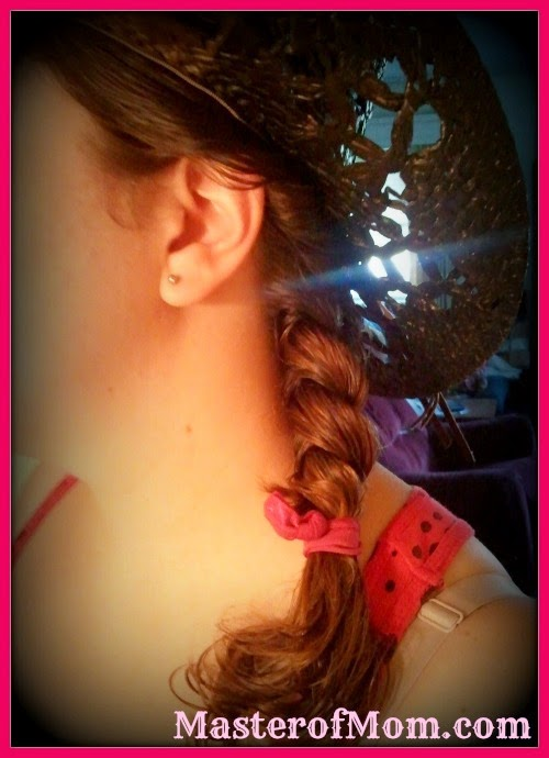 Cowgirl Hairstyle using Goody Ouchless Hair Ribbons