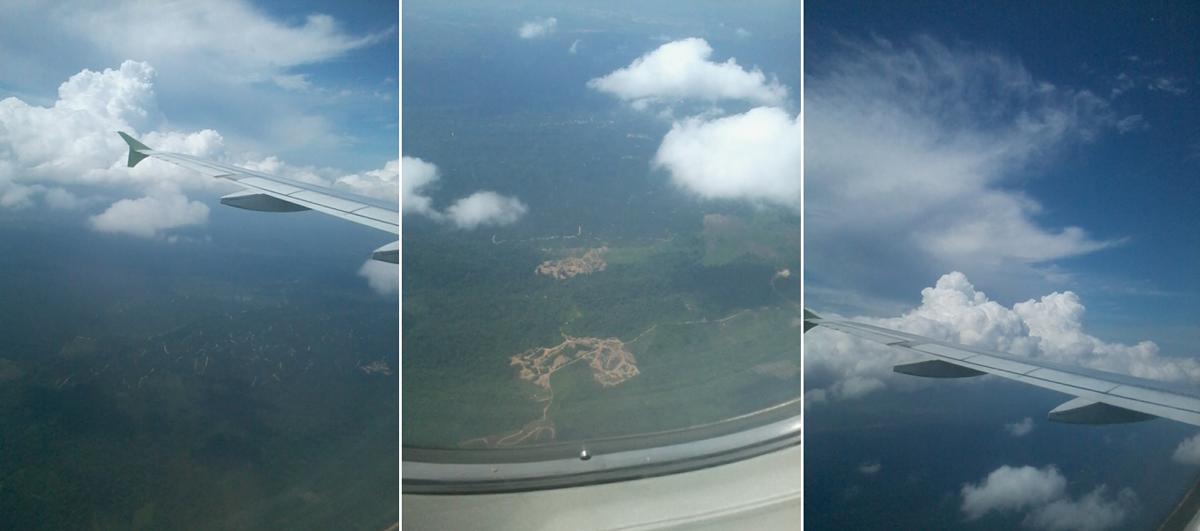 Foto Awan dari Dalam Pesawat