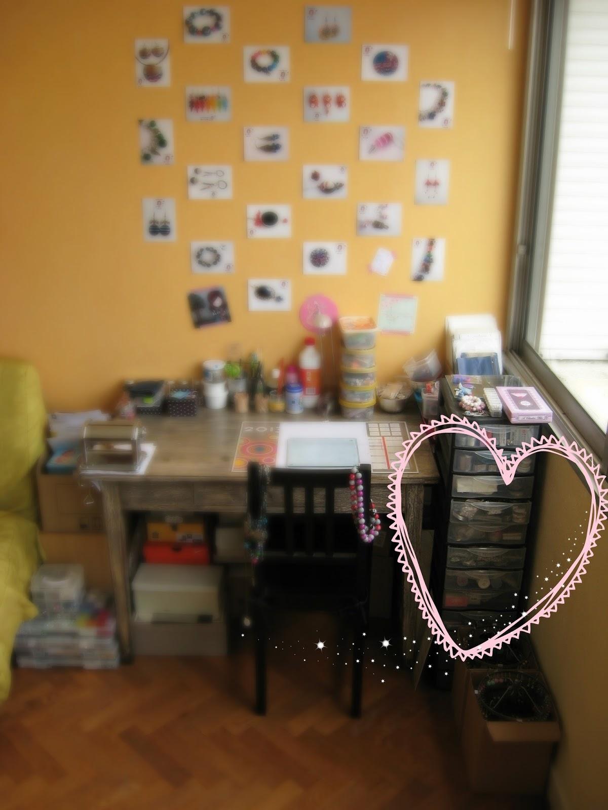 bureau atelier bijoux lois créatrice
