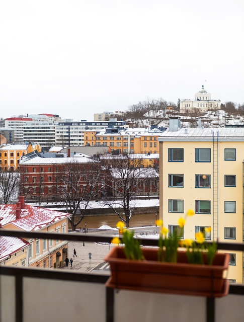 Photo of Turku city as seen from the apartment