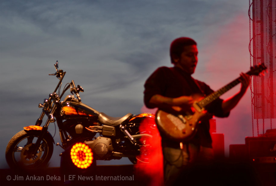 Boomerang, rock band from Mizoram at Harley Rock Riders, Bangalore - Jim Ankan photography