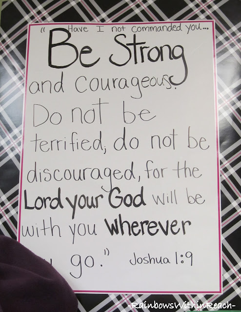 photo of: Be Strong and Courageous: Anchor Chart