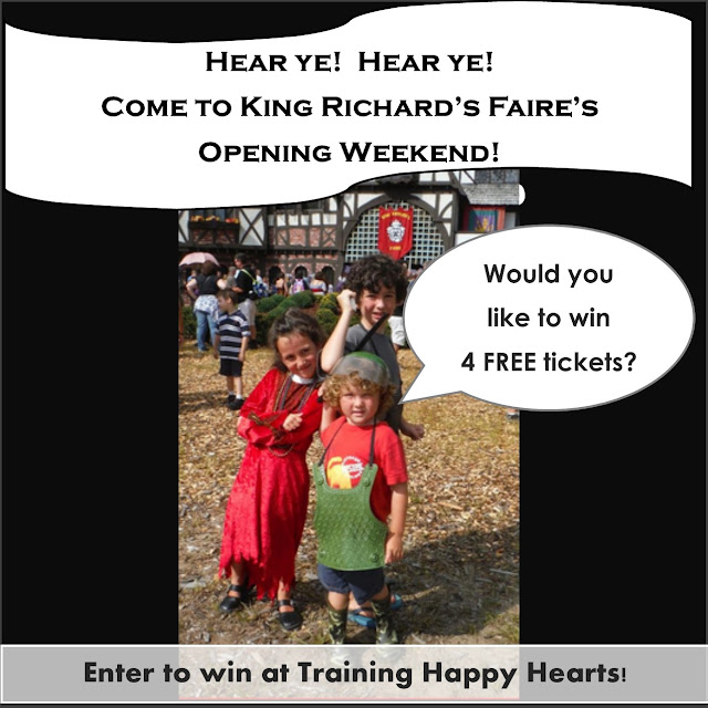 http://traininghappyhearts.blogspot.com/2015/08/King-Richards-Faire-giveaway.html