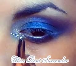 maquillaje de fantasia azul