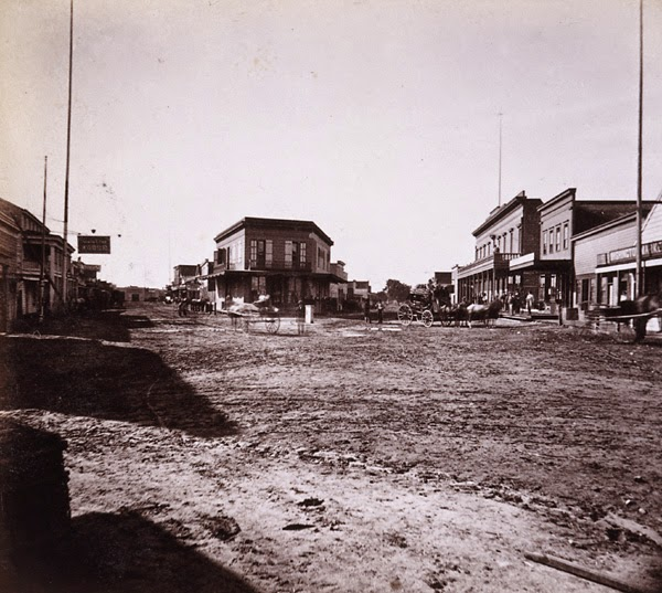 Downtown Santa Cruz 1860
