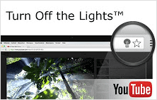 Turn off the lights extension for Google Chrome