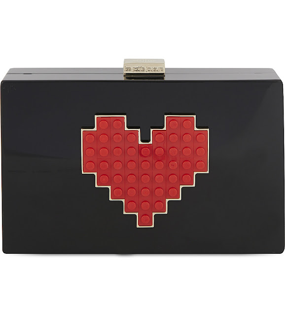 petits joueurs grace lolita clutch, black red heart clutch,