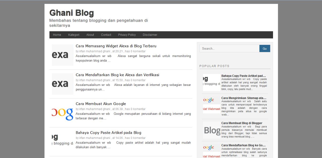 Cara Memasang / Merubah Template Blog