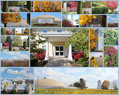 Collage of autumn photos taken on the Maharishi University of Management Campus, 2011.