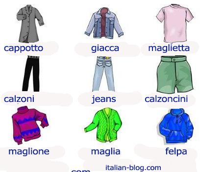 Итальянская одежда перевод на итальянский