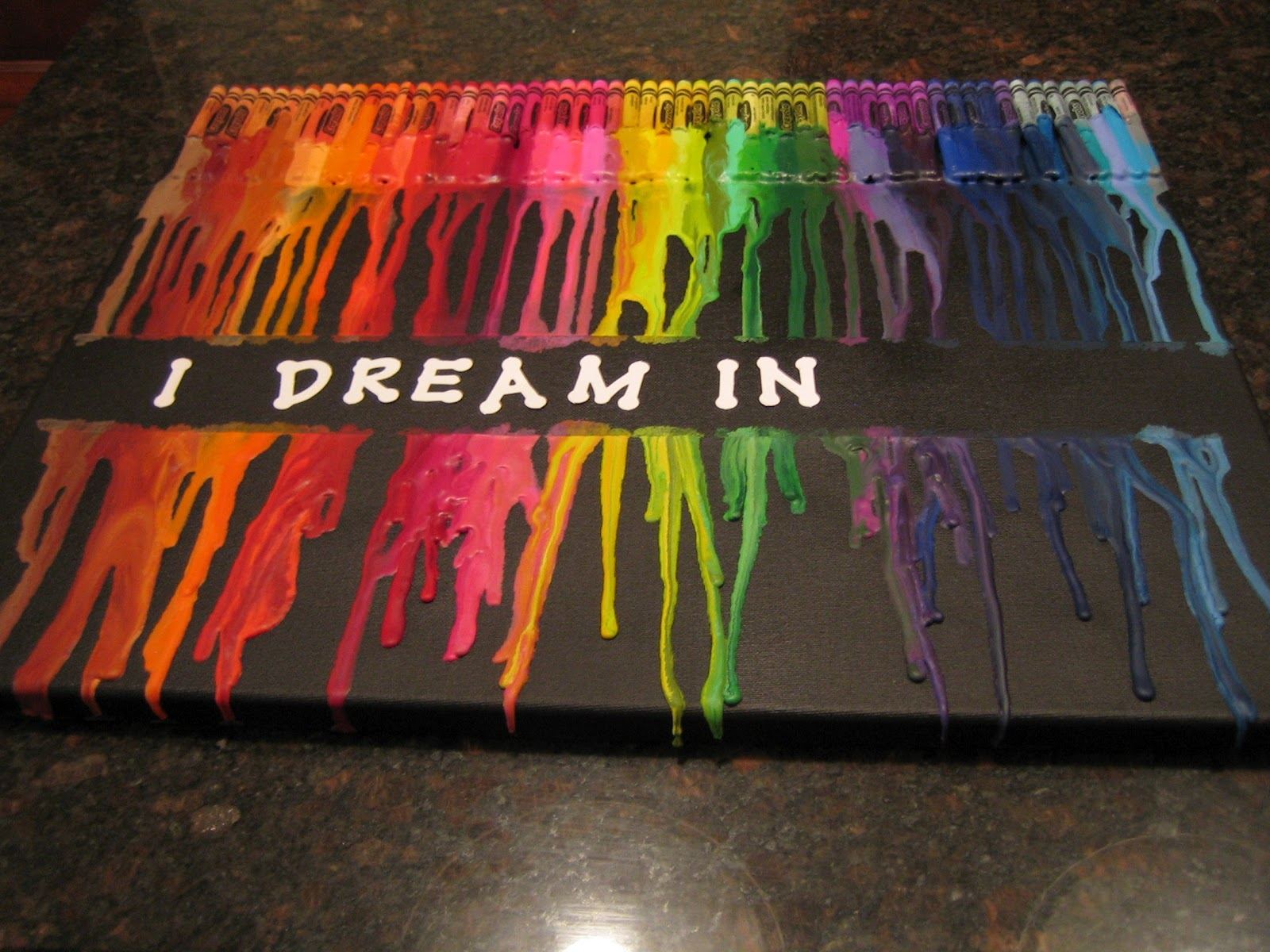 Feel lovd everyday what i made wednesday melted crayon art for Melting wax for letters