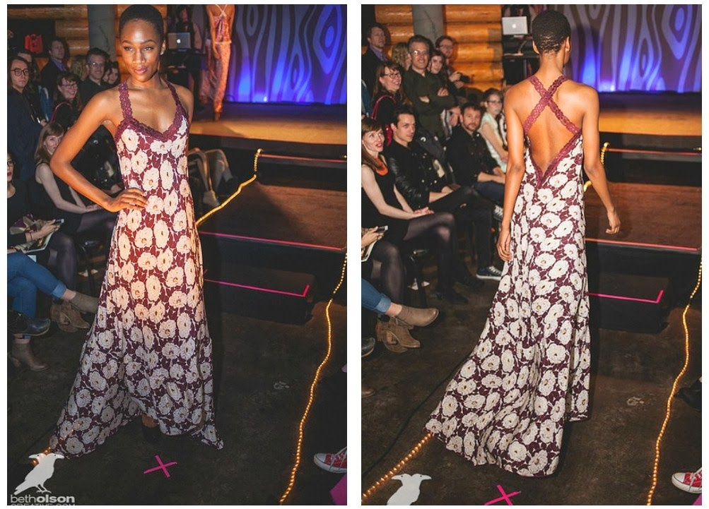 Gown by Sarah Bibb in action at Unmentionable: A Lingerie Exhibition  2014