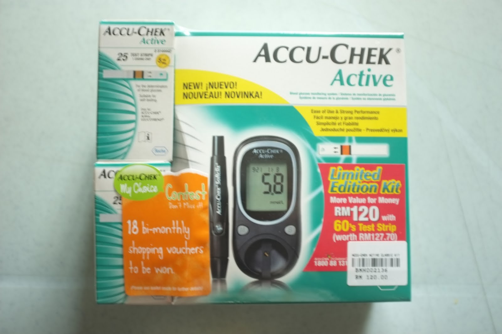 Zestzfulness Accu Chek Active Limited Edition Kit Strip