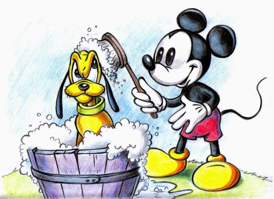 dibujo de mickey y pluto