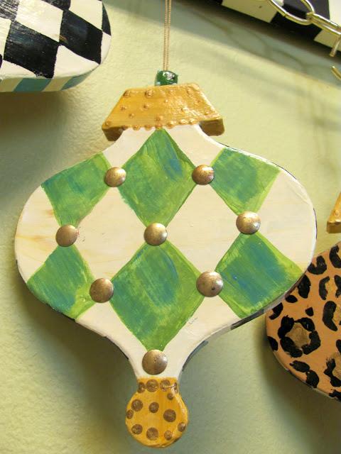 studded diamond shape Christmas ornament