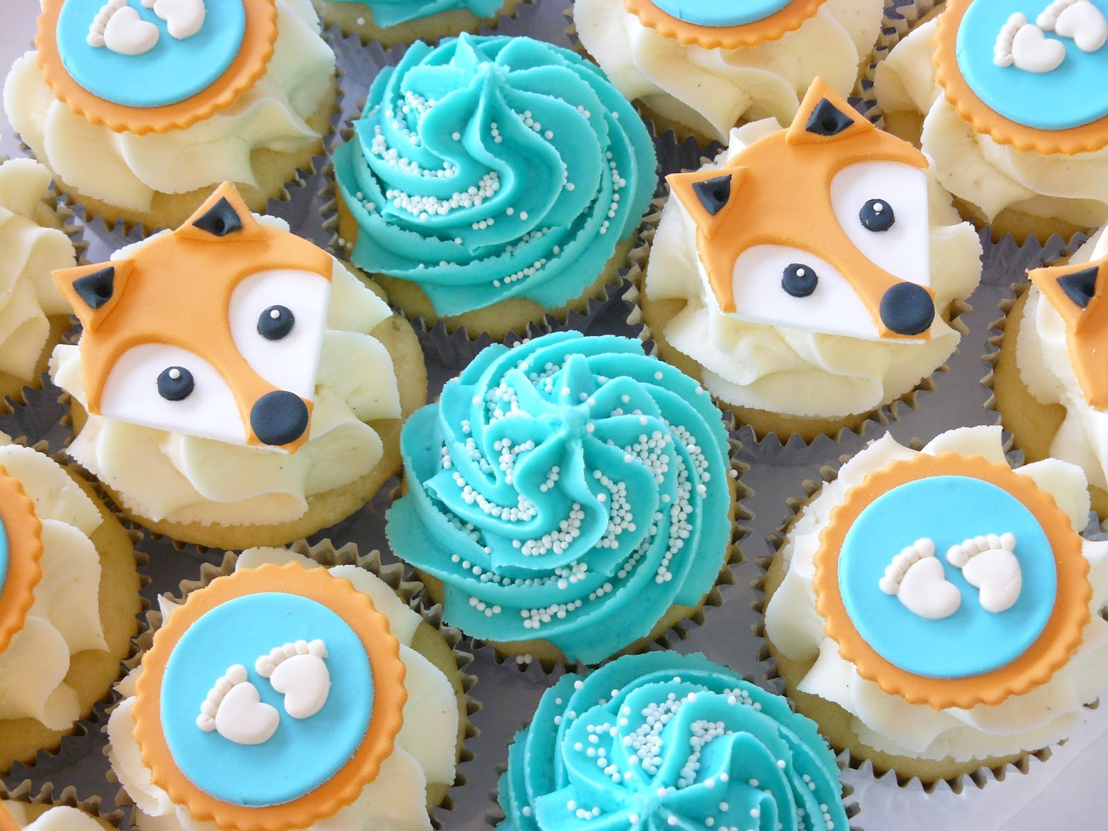Baby Shower Fox Cake