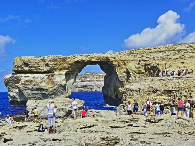 Azure window el lugar mas visitado de Gozo