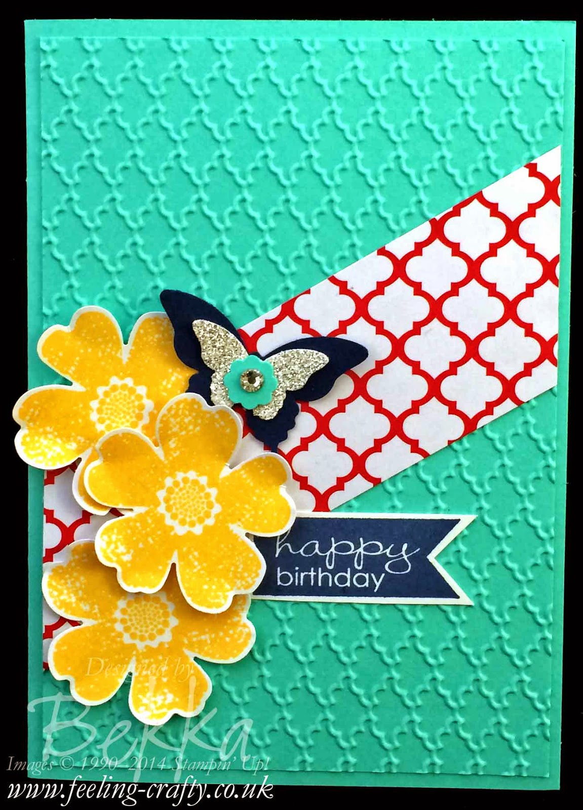 Birthday Flowers and Butterflies Card using Stampin' Up! Supplies - if you are in the UK get them here