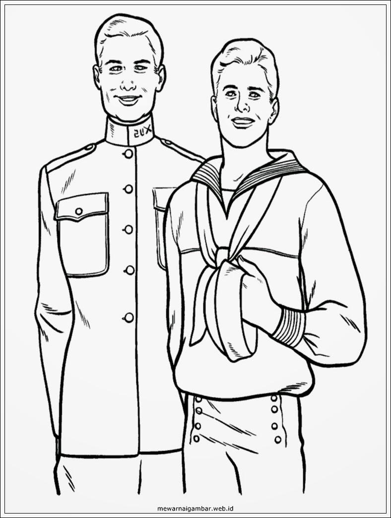 gambar mewarnai pelaut