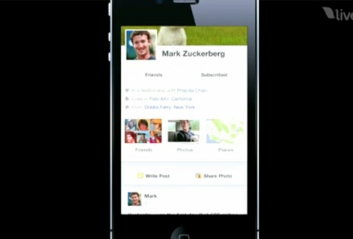 Facebook TimeLine On iPhone