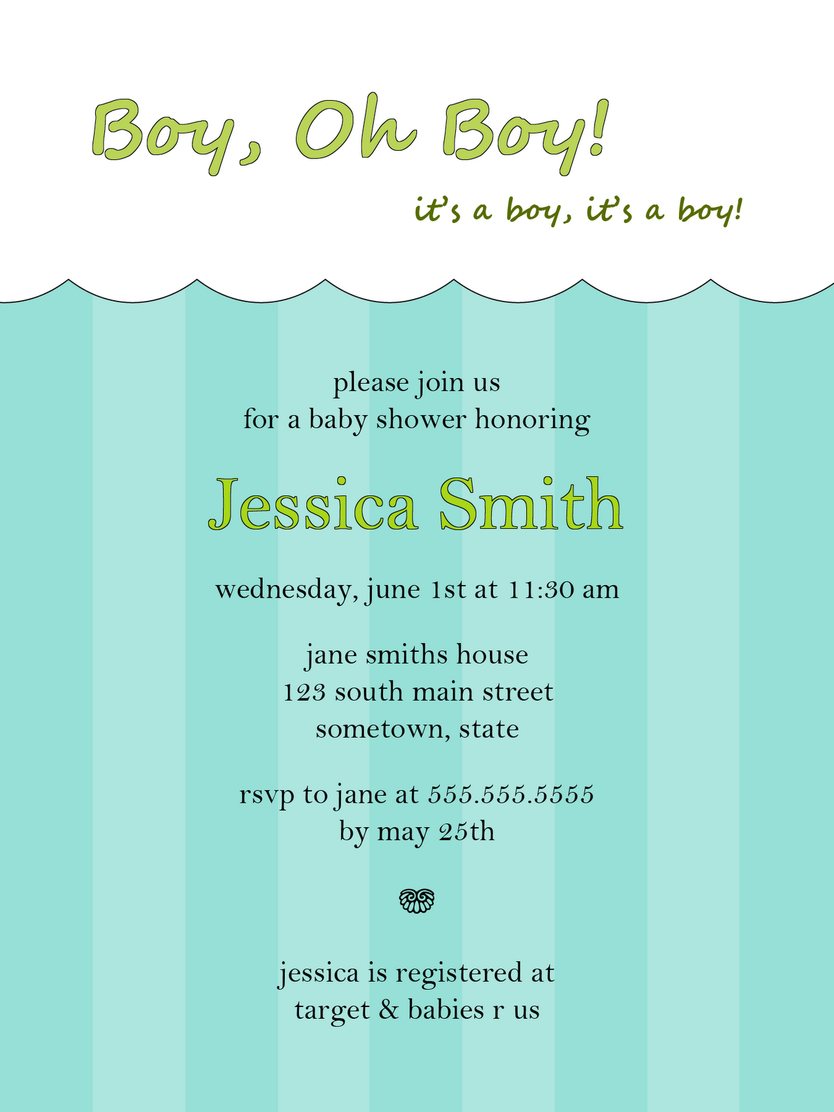 Baby shower invites best baby decoration for Baby shower boy invitation templates free