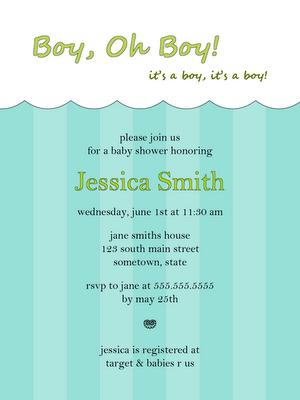 free baby boy baby shower invitation