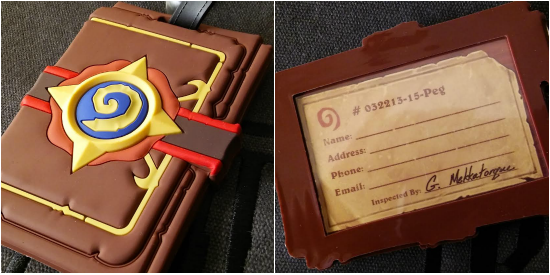 BlizzCon 2015 Hearthstone Luggage Tag