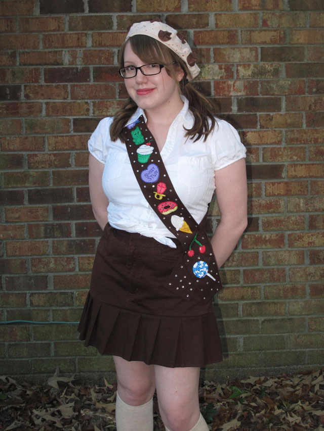 April Sprinkles: Katy Perry inspired girl scout Costume cookie beret