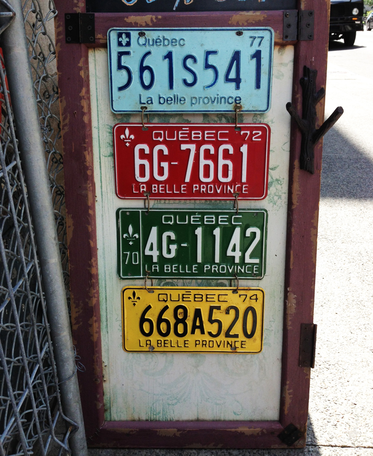 Quebec License Plate Evolution Vintage