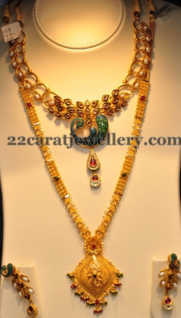 Jos Alukkas Meena Work Set Jewellery Designs