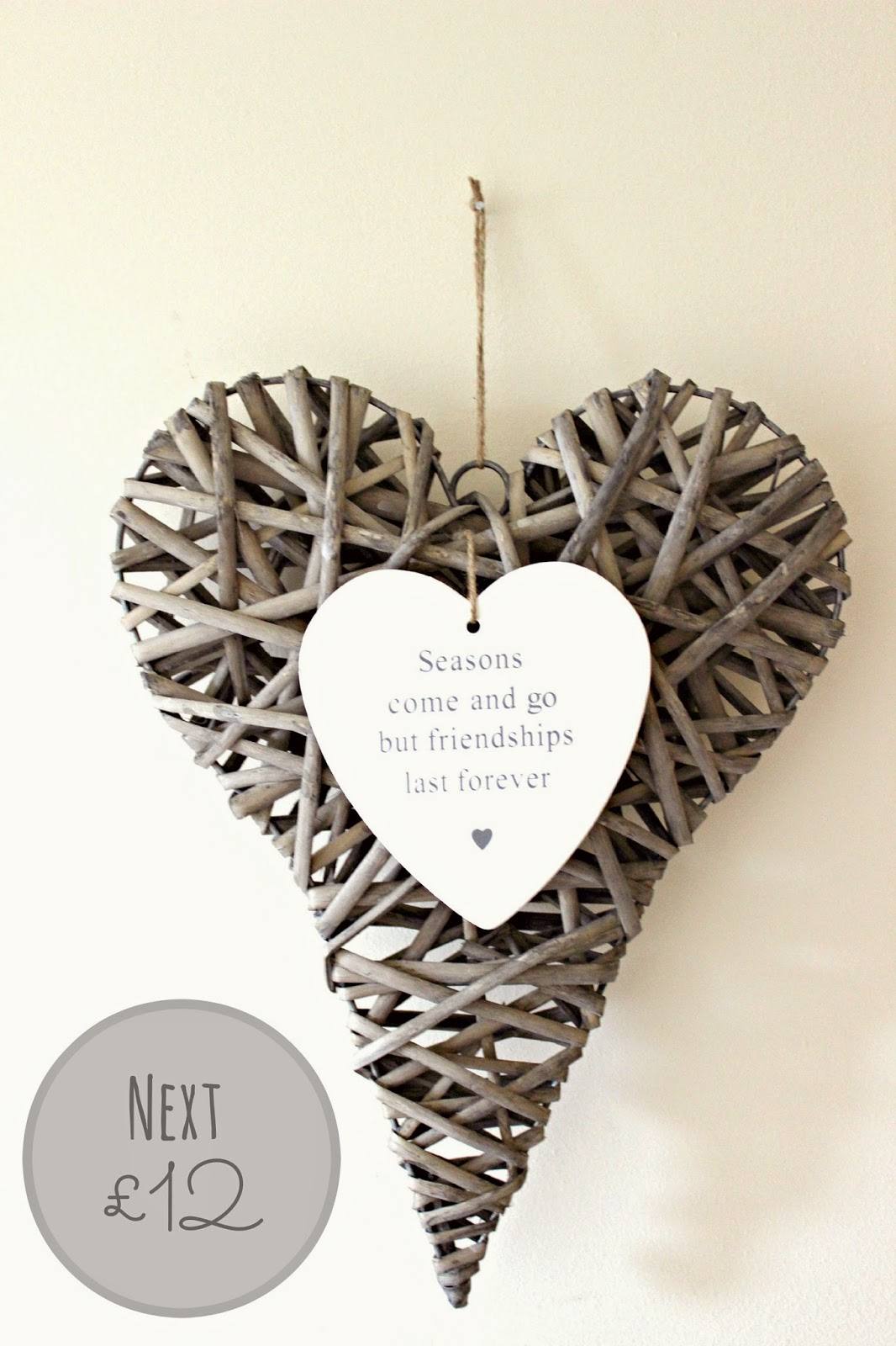 wicker heart from next