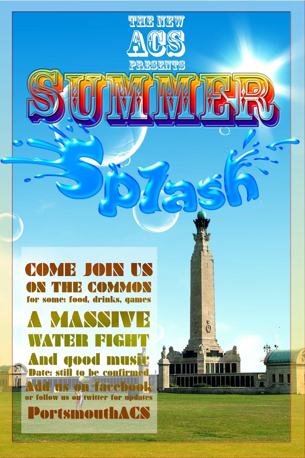 Portsmouth Afro Caribbean Society Splash Bottle Acs Series Upcoming Event Summer