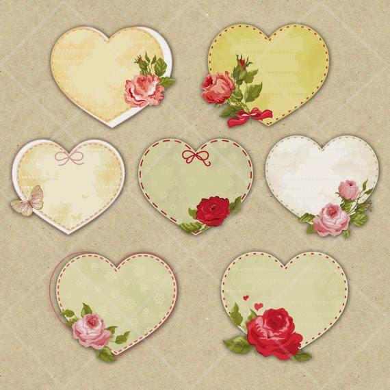 Tags corações