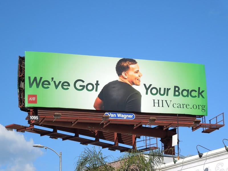 Weve got your back HIV care billboard