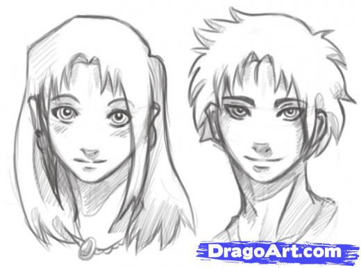 Manga stringz 2011 but still you can use the circle as the primary guide of your animes head but this time there changes in positioning the eyes mouth nose ears ccuart Gallery