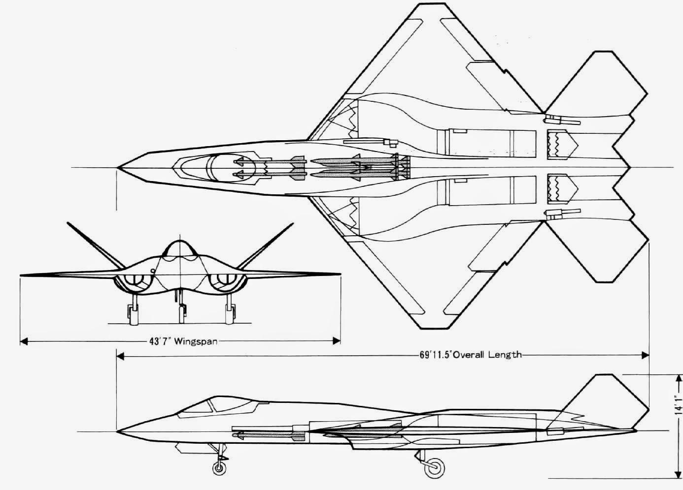 aviones caza y de ataque  northrop yf