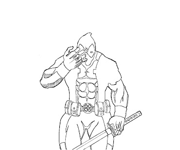 #4 Deadpool Coloring Page