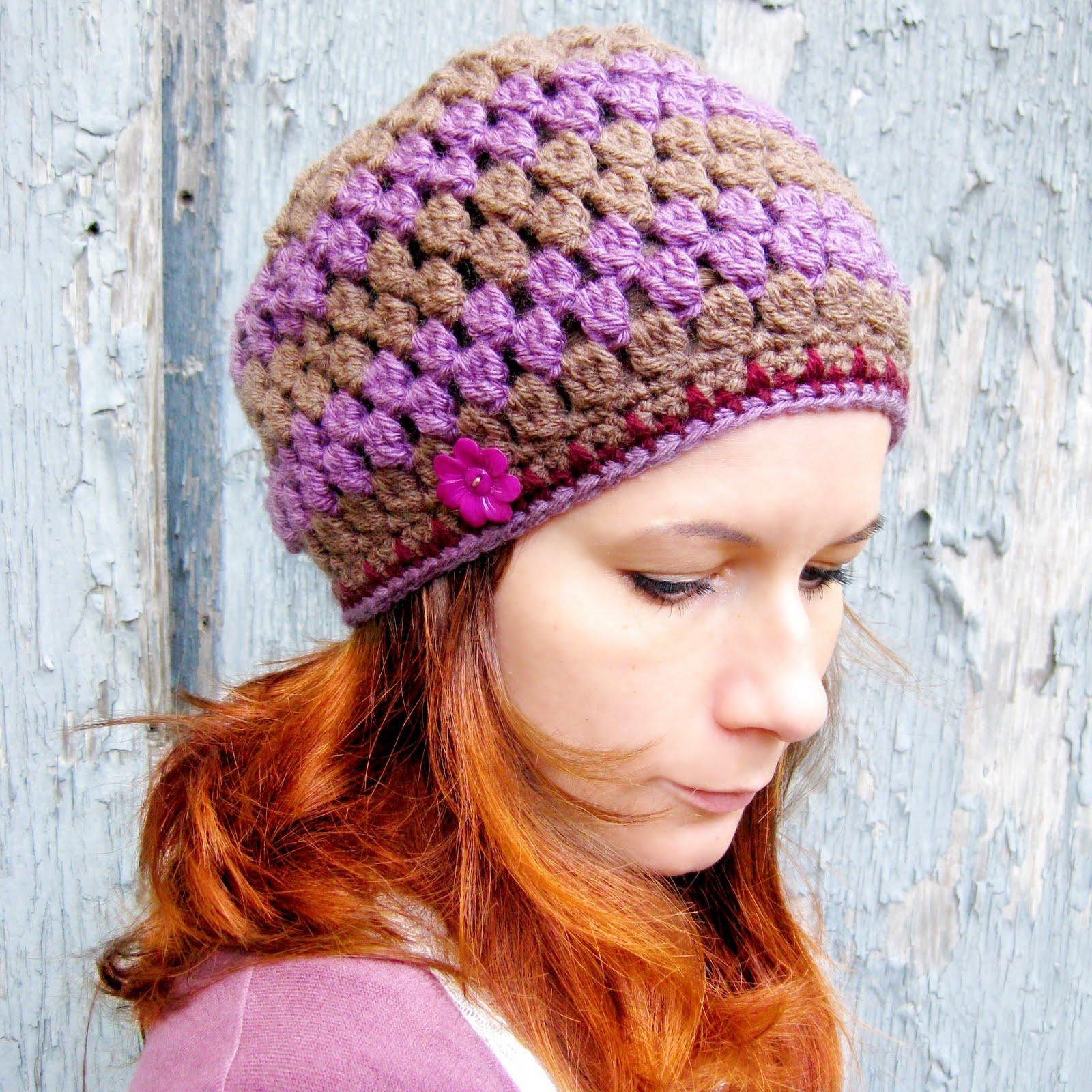 Crochet Hat Patterns With Instructions : Handmade by Viki: Free PDF Crochet Pattern