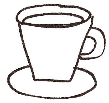 コーヒーのイラスト(カフェ)線画