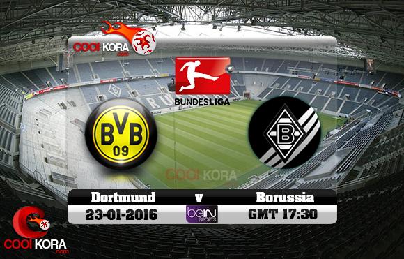 مشاهدة مباراة بوروسيا مونشنغلادباخ وبروسيا دورتموند اليوم 23-1-2016 في الدوري الألماني