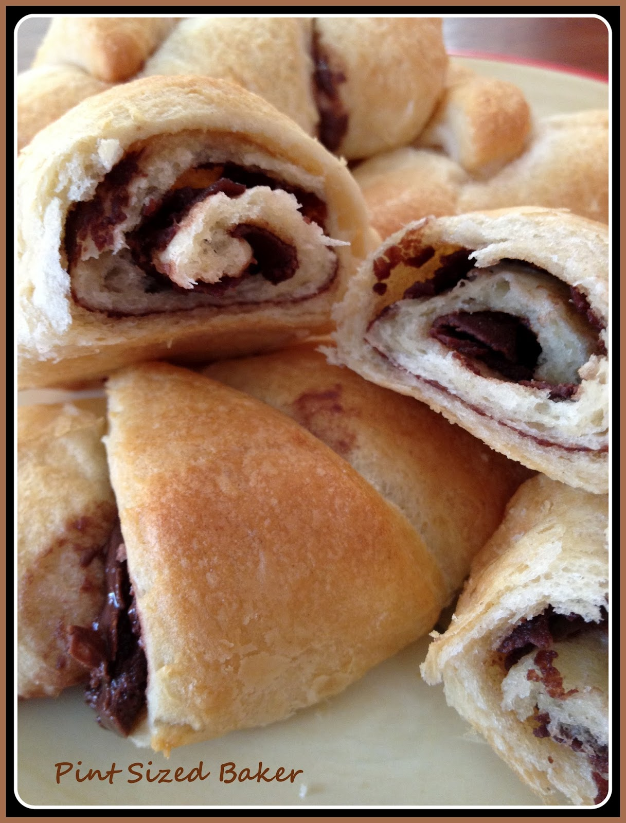Pint Sized Baker: Chocolate Peanut Butter Crescent Rolls