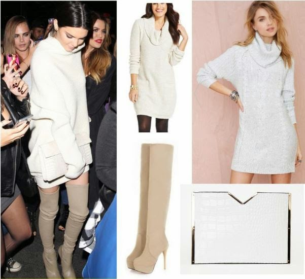 Kendall Jenner - Sweater Dress Outfit - Copycat Queen V