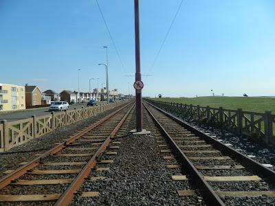 tram tracks, fleetwood, lancashire