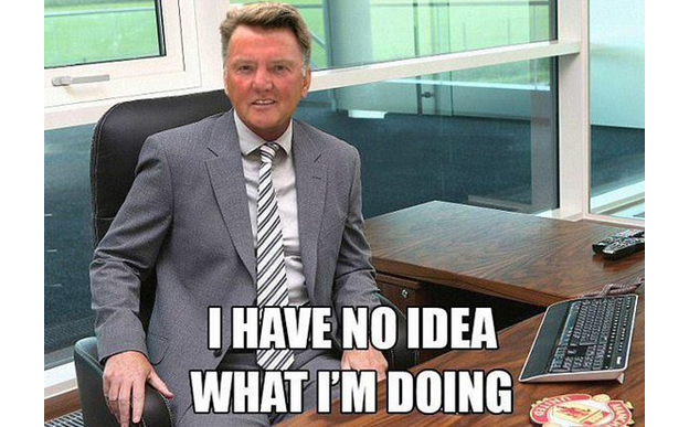 A version of this meme was popular during David Moyes's 10-month tenure at Old Trafford