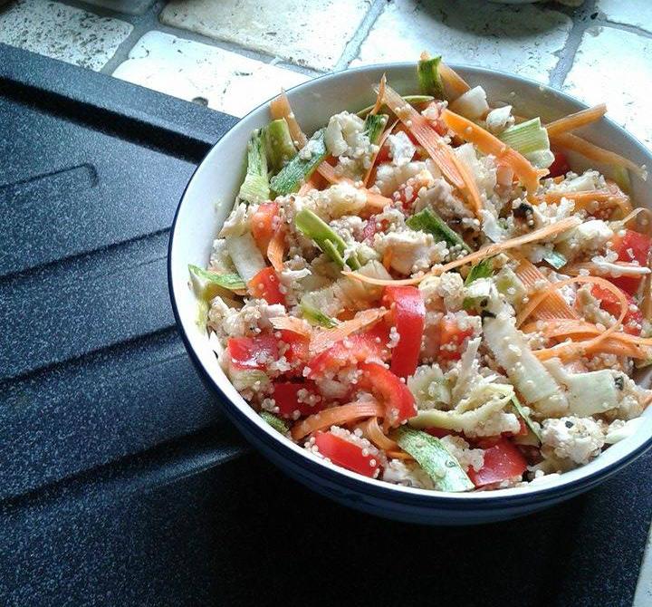 Cucina & Fitness: Insalata di quinoa con verdure crude, petto di ...
