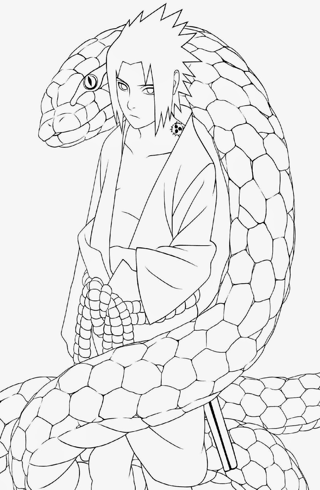 Naruto coloring sheets free coloring sheet for Anime coloring pages naruto